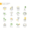 Set of modern business office flat design icons vector image