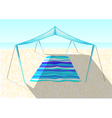beach tent on a sand vector image