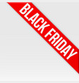 black friday tag ribbon vector image