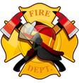 Fire department badge vector image