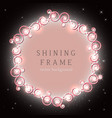 shining retro circle banner vector image