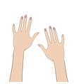 Women hands vector image