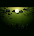 zombie hands and old trees on full moon background vector image