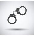 Police handcuff icon vector image