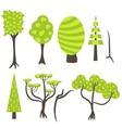 tree clip art nature set vector image