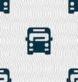 Bus icon sign Seamless pattern with geometric vector image