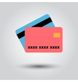 Credit card on a white background vector image vector image