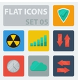 Flat Icons Set 05 vector image