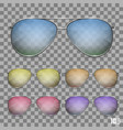 sunglasses color object vector image