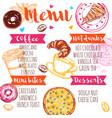 sketch coffee menu vector image