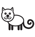Cute animal cat - vector image vector image