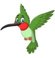 Cartoon cute small bird vector image