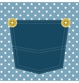 blue pocket vector image
