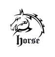 Tribal horse neighs for tattoo or mascot design vector image vector image