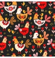 Animal pattern Domestic bird vector image