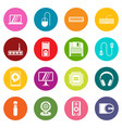 computer icons many colors set vector image