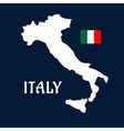 Flat map of Italy and national flag vector image