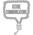 Secure Communications chain lock frame vector image vector image