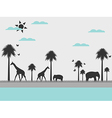 Reserve landscape with animals vector image