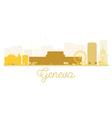 Geneva City skyline golden silhouette vector image