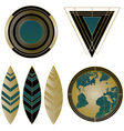 Art Deco logos and design elements vector image vector image
