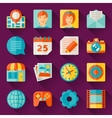 Seamless pattern with web and mobile icons vector image vector image