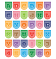 paper bunting alphabet vector image vector image