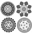 round oriental pattern vector image vector image
