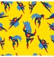 Superman Seamless Pattern vector image