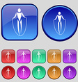 jump rope icon sign A set of twelve vintage vector image