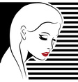 sexy woman with red lips vector image
