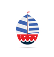 boat icon color vector image