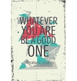 Creative bold abstract poster with quote vector image