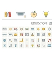 Education and learning color icons vector image