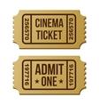 Retro cinema ticket vector image