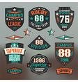 Rugby emblem college team vector image