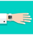 Woman hand with smart watch vector image