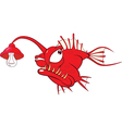 Monk fish Cartoon Character vector image