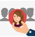 human resource design vector image