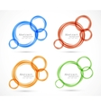 Set of circles banners vector image vector image