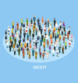 Professional Society Isometric Background vector image