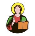 jesus christ icon cartoon vector image