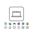 laptop computer icon notebook sign vector image