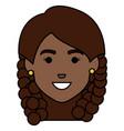 beautiful african head woman avatar character vector image