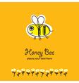 bee sketch vector image