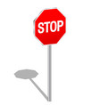 3d sign stop vector image