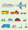 Traffic vehicles vector image