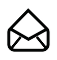 open email setup isolated icon design vector image