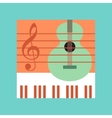 flat icon on stylish background music lesson vector image