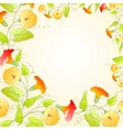Background with flower wreath for romantic design vector image